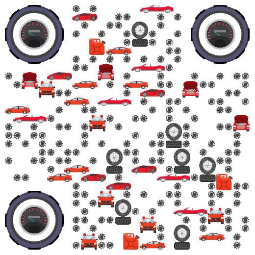 跑车 赛车 汽车微信二维码