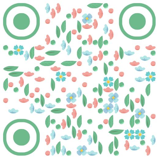 清新花瓣艺术二维码