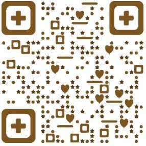 爱心 气泡 星星二维码模板