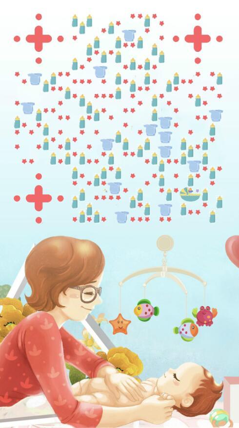 母亲节二维码宣传海报