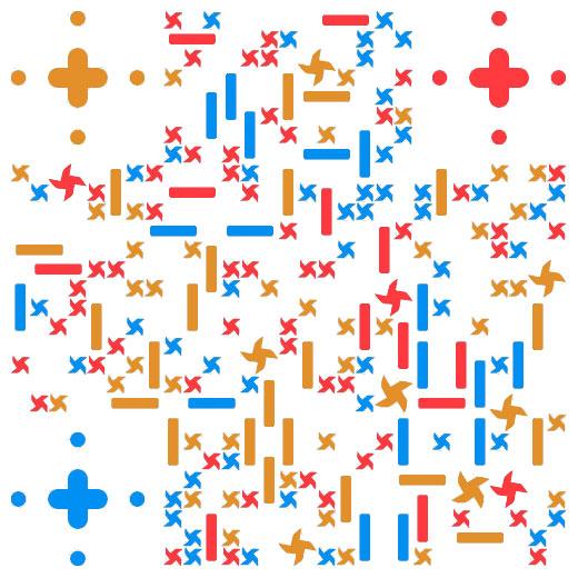 免费六一儿童节风车二维码图片