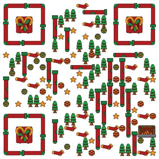 免费艺术二维码 圣诞节