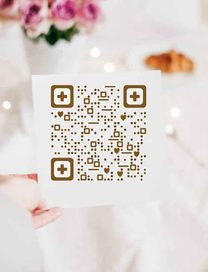 婚礼邀请函模板 微信名片二维码