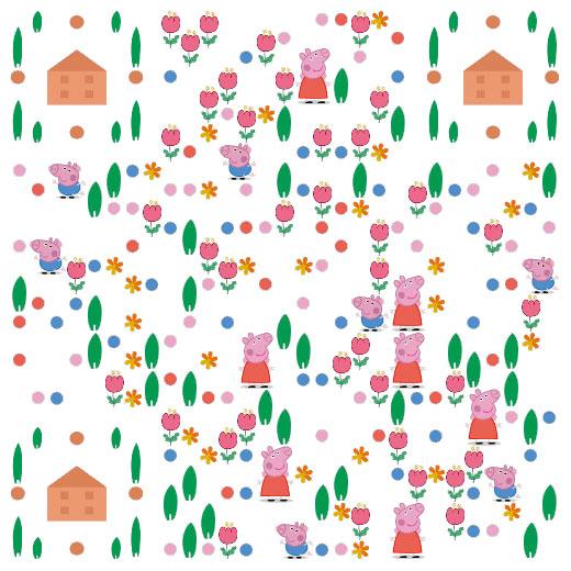 六一儿童节创意二维码